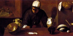 Kitchen Maid with Supper at Emmaus, or The Mulata by Diego Velàzquez